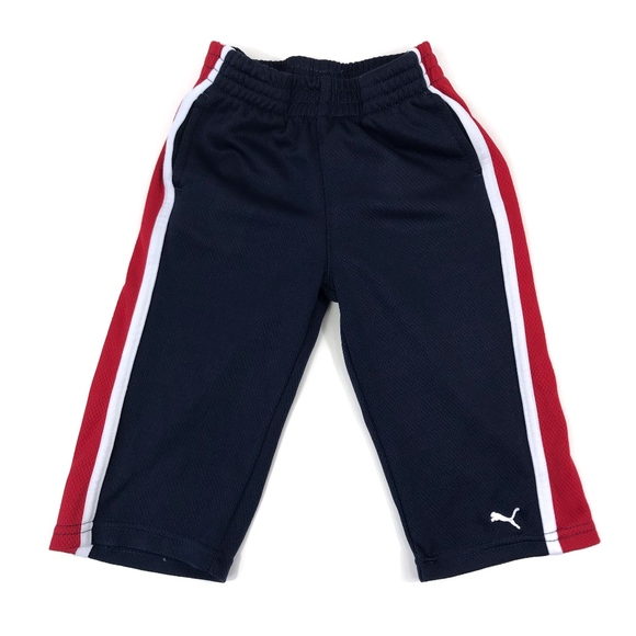 Puma Other - [Puma] Navy, Red, and White Colorblock Sweatpants